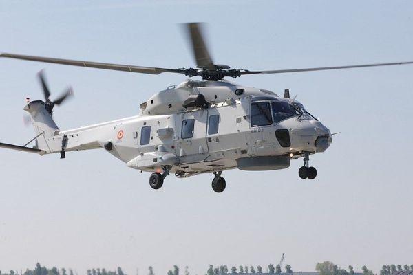 L'hélicoptère NH90 basé à Coxyde (Belgique) a ratissé la zone de la disparition en vain.