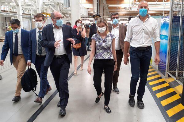 Agnès Pannier-Runacher, Ministre déléguée en charge de l'Industrie, en visite à l'usine Smart d'Hambach