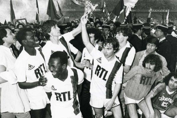 La finale de Coupe de France PSG / Saint-Etienne, en 1982.