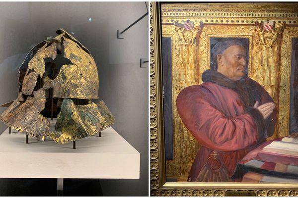 De nombreux éléments historiques sont présentés à l'occasion de cette exposition consacrée au traité de Troyes signé en 1420.