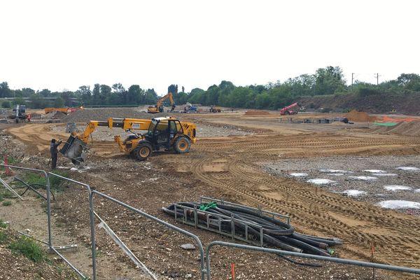 """5 mai 2020- Le chantier de """"Parc en Seine"""" à Tourville-la-Rivière"""