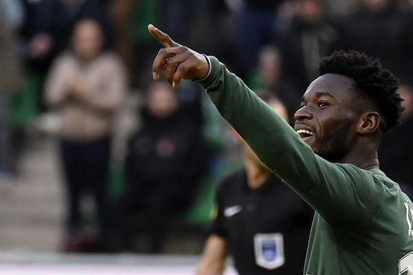 Assane Diousse auteur d'un but à la 86e minutes pour les Verts contre Toulouse ... 14/1/18
