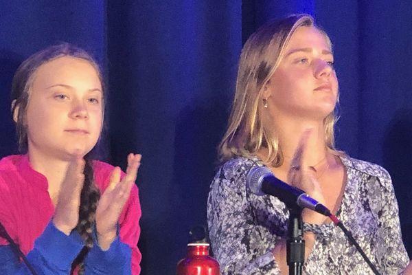 Greta Thunberg et Iris Duquesne à New York pour le climat