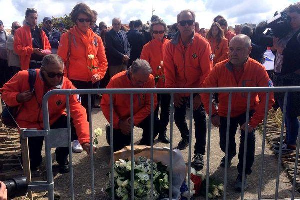 Hommage aux trois sauveteurs de la SNSM morts en mer, le 10 juin 2019 aux Sables d'Olonne