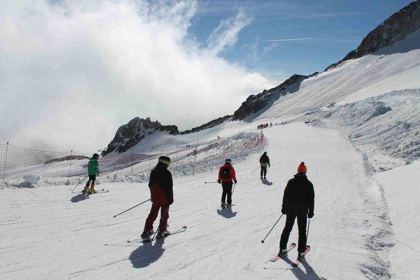 Le glacier de Tignes lors des vacances de la Toussaint en 2018