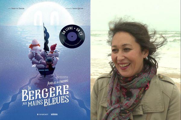 La Bergère aux mains bleues, est un conte musical illustré. Un livre-disque, aux éditions Margot, écrit par Pierre-Luc Granjon, illustré par Samuel Ribeyron et mis en chanson par Amélie-les-Crayons.