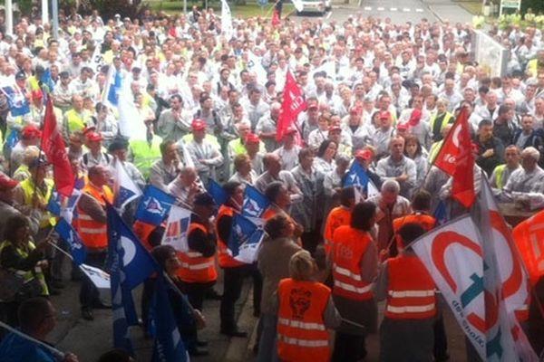 Entre 1000 et 1200 salariés se sont mobilisés ce vendredi 13 sur le site de La Janais