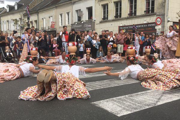 L'impressionnante troupe du Paraguay pendant le défilé d'inauguration.