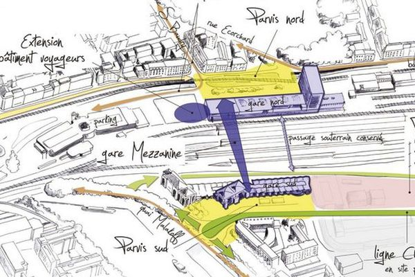 Le projet aménagement de la gare de Nantes