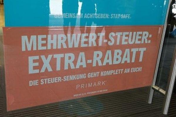 """""""Des rabais supplémentaires"""", grâce à la baisse de la TVA en Allemagne."""