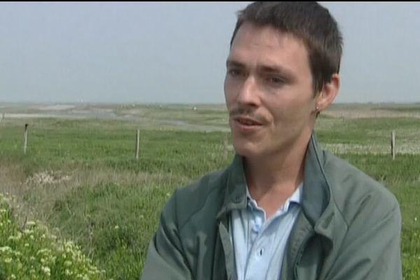 """Gérald Thomassin lors du tournage de """"Le premier venu"""" de Jacques Doillon en 2007"""