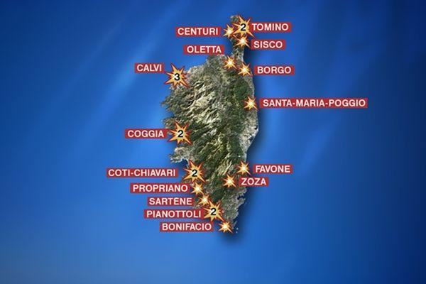 Au dernier bilan, 21 attentats dans la nuit du 7 au 8 décembre