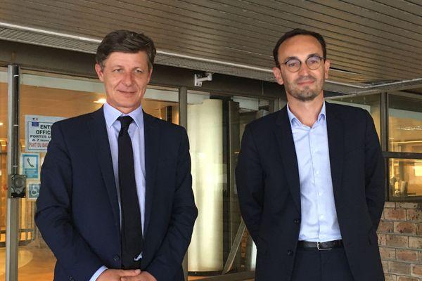 Nicolas Florian, maire sortant, est allé déposer sa liste en compagnie de Thomas Cazenave, son nouveau colistier.