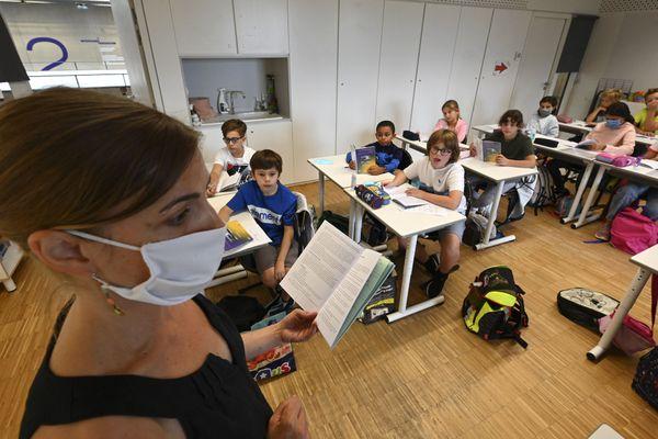 Dans une classe à Strasbourg, le 1er septembre 2020