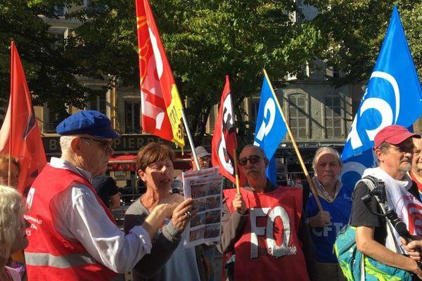 Manifestation des retraités sur la Canebière ce mardi à Marseille.
