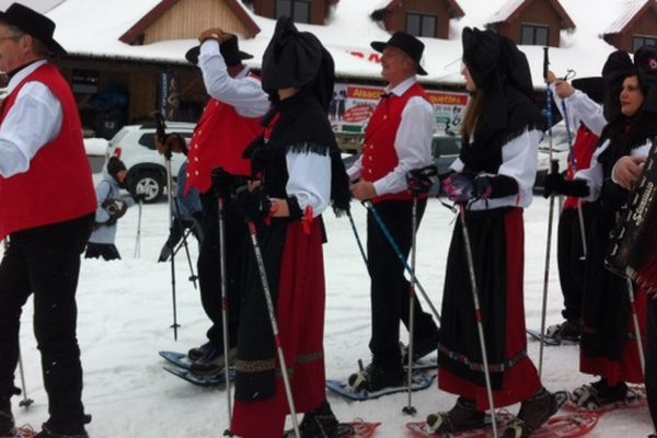 Ambiance festive malgré le froid au Markstein