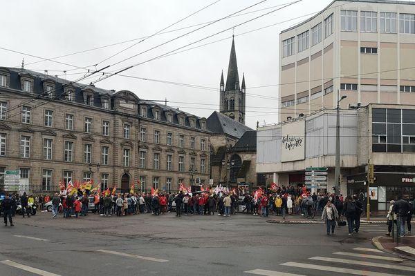 La manifestation contre la réforme des retraites, carrefour Tourny, le 24 septembre 2019, avait rassemblé 200 personnes.