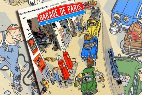 """Bazile et Dugomier croquent avec gourmandise la madeleine automobile des années 60 dans le """"Garage de Paris"""" chez Glénat"""
