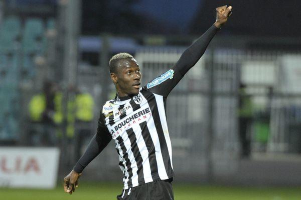 La joie de Yattara après son but face à Clermont Foot