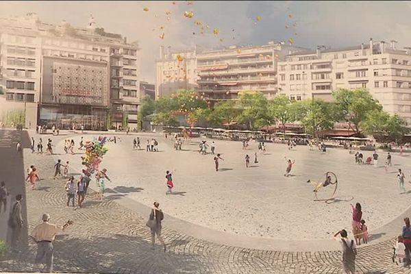 Limoges : projet d'aménagement de la place de la République (illustration)