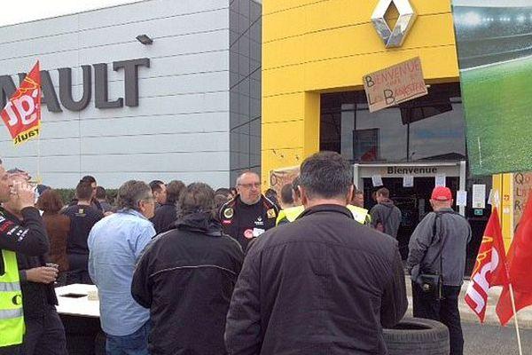 Montpellier - manifestation d'une centaine de salariés Renault du grand sud - 22 avril 2016.