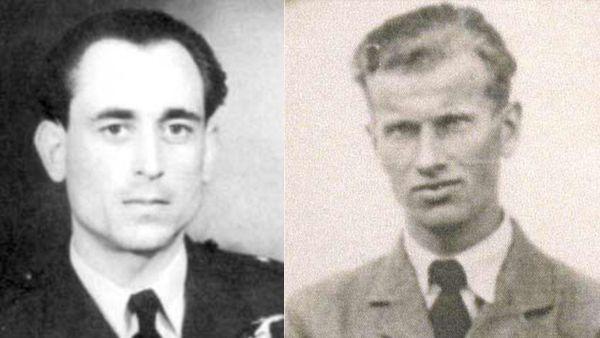 Arsen Cebrzynski (à gauche) et Stefan Wojtowicz (à droite), deux pilotes polonais du 303 Squadron tués le 11 septembre 1940.