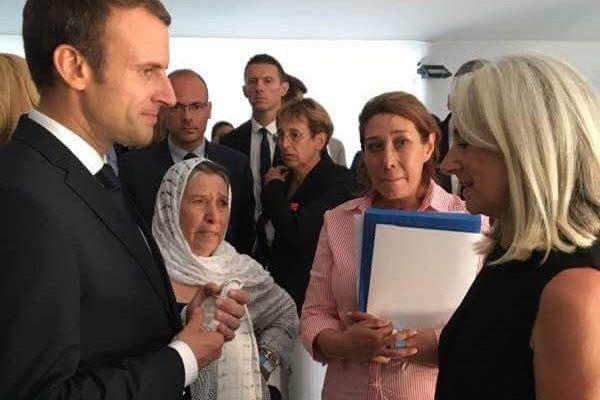 Anne Murris et Emmanuel Macron le 14 juillet 2017.