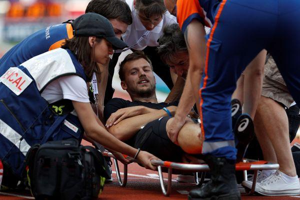 Christophe Lemaitre s'est blessé ce week-end lors d'un meeting au stade Charlety.