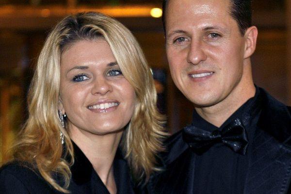 Corinna et Michael Schumacher, en 2008.