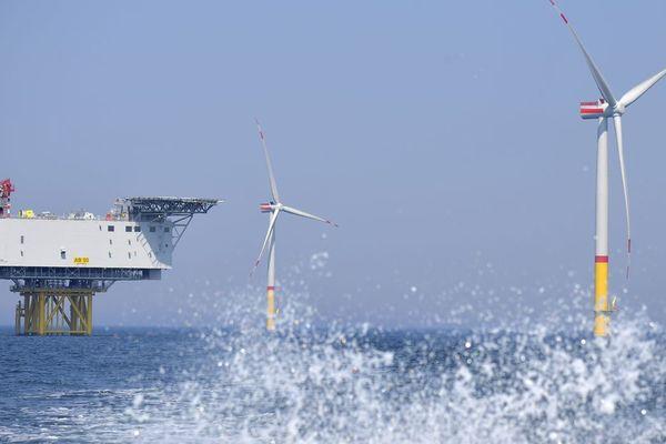 Des éoliennes en mer Baltique