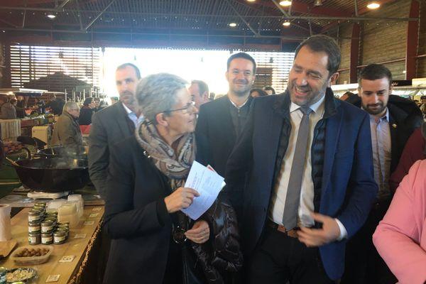 Christophe Castaner était en compagnie de Geneviève Darrieussecq, secrétaire d'État aux Armées et ex-conseillère départementale des Landes.