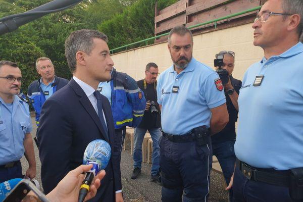 Pour sa première visite en province, Gérald Darmanin, ministre de l'Intérieur, rencontre les gendarmes du Lot-et-Garonne