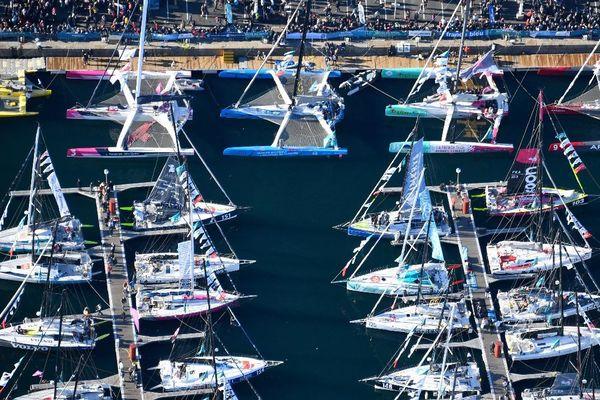 Les bateaux à quai à Saint-Malo