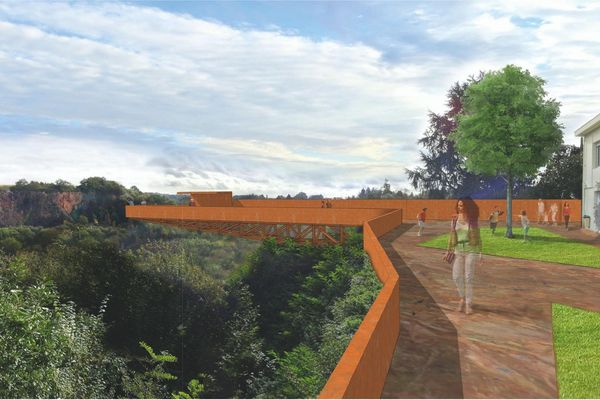 Le futur Porte-vue de Pont Caffino, à Château-Thébaud