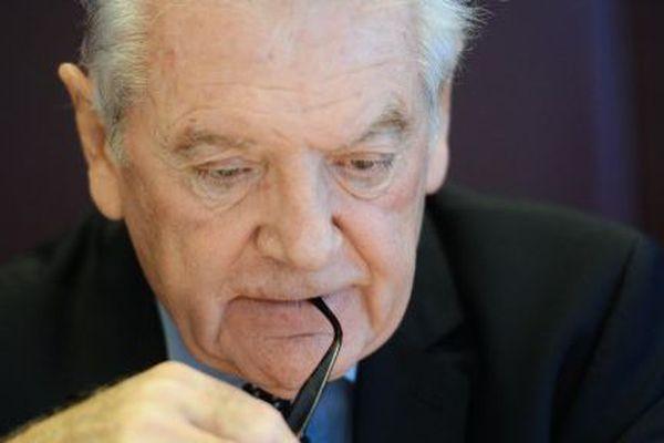 Philippe Madrelle, sénateur socialiste de Gironde. 28 novembre 2014 à BordeauxA 77 ans, il annonçait alors qu'il ne serait pas candidat aux élections départementales de mars 2015.