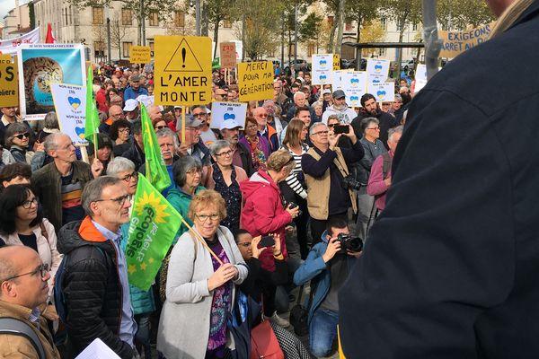 Manif à La Roche-sur-Yon des opposants au port de plaisance de Brétignolles-sur-Mer, 19 octobre 2019