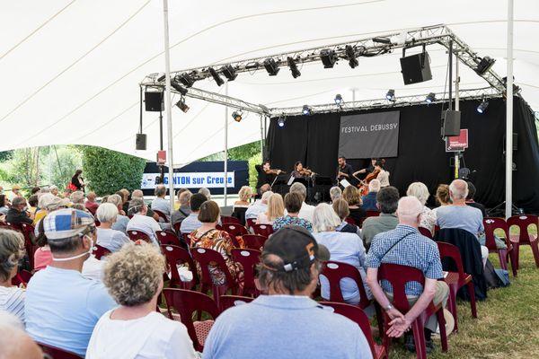 Scène du festival Debussy à Argenton-sur-Creuse.