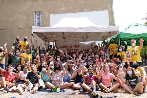 Photo de groupe des participants au Camp Climat de Ramonville