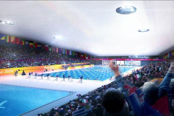 Le projet de centre aquatique olympique, à Saint-Denis, pour les Jeux de 2024.