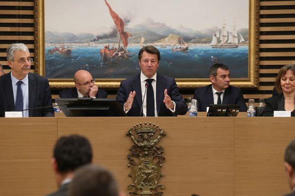 Christian Estrosi, lors de la présentation du plan d'investissement de la Métropole.