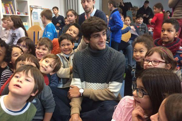 Pierre-Hugues Herbert a rendu visite à son ancienne école de Kehl, où fut scolarisé de ses 7 ans jusqu'au bac.