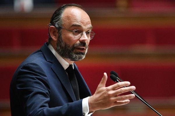 Le Premier ministre Edouard Philippe annonce les mesures de déconfinement, jeudi 7 mai 2020 à 16 heures. (Image : allocution du 28 avril.)