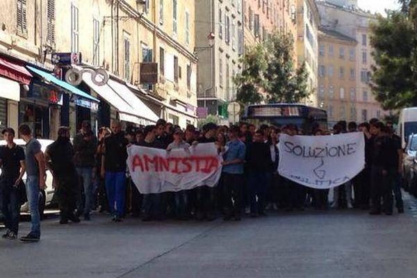 Manifestation des lycéens ce vendredi 25 septembre à Bastia.