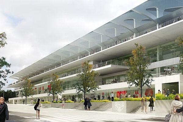 La future tribune Est du stade Gaston Gérard de Dijon, côté rue