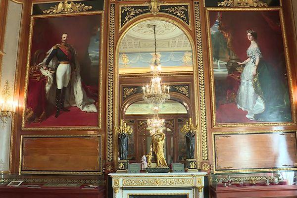 Copies de tableaux de Napoléon III et de l'Impératrice Eugénie par Winterhalter.