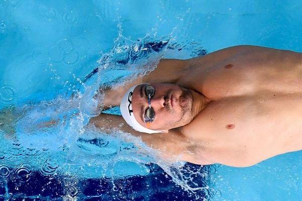 Le nageur Jérémy Stravius lors des championnats d'Europe de Glasgow le 3 août 2018