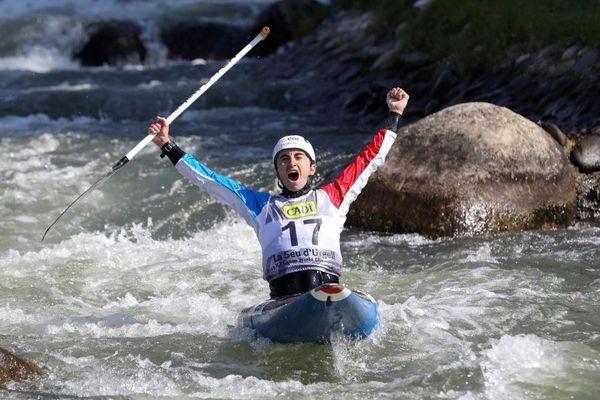 Cédric Joly, champion du monde de canoë-kayak en slalom en Espagne - 28/09/2019