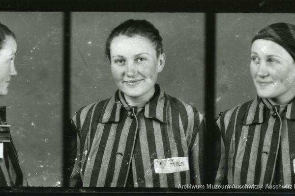 Lisette, photographiée à Auschwitz le 3 février 1943. Avec elle, d'autres résistantes ont été déportées. Les survivantes ont raconté que lors de leur entrée dans le camp, elle ont entonné la Marseillaise.