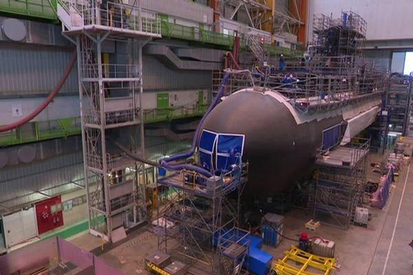 Le chantier Laubeuf où sont assemblés les sous-marins de type Barracuda