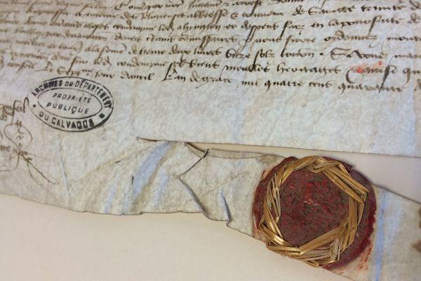 Le sceau d'Henri VI aux deux léopards normands